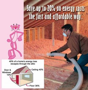 Save money with blown in attic insulation